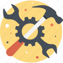 cogwheel, configure, hammer, preferences, service icon