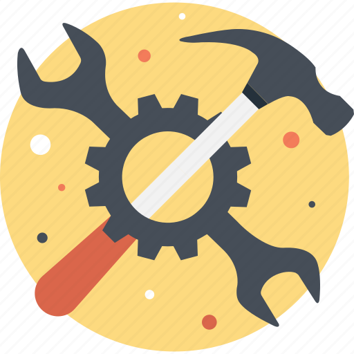 cogwheel, configure, hammer, preferences, service icon