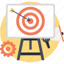 aim, campaign, dart, managment, target icon