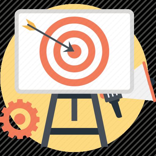 aim, campaign, dart, managment, target icon