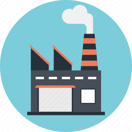 corporate, factory, industry, manufacturer, production icon