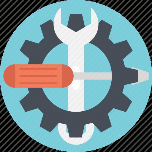 cog, configure, screwdriver, settings, spanner icon