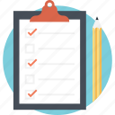 checklist, clipboard, documents, memo, task icon