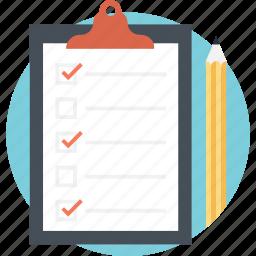 checklist, clipboard, documents, memo, task icon