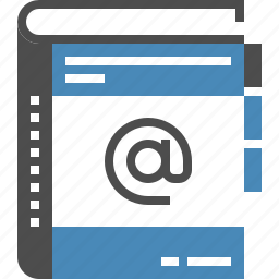 address, book, contact, contacts, email, list, notebook icon