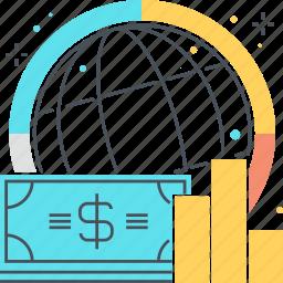 coin, dollar, finance, global, money, statistics icon