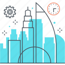 building, city, investment, office, work icon