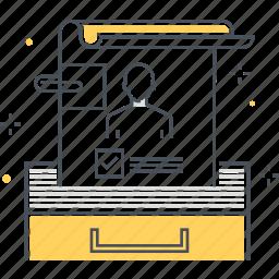 avatar, document, employee, paper, resume icon