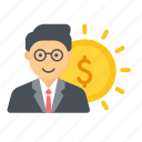 compensation, employee, pay, remuneration, salary icon