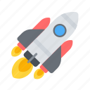 launch, project, rocket icon