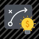 growth, idea, path, plan, strategy, success icon