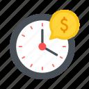 cost, dollar, earn, estimate, money, time icon