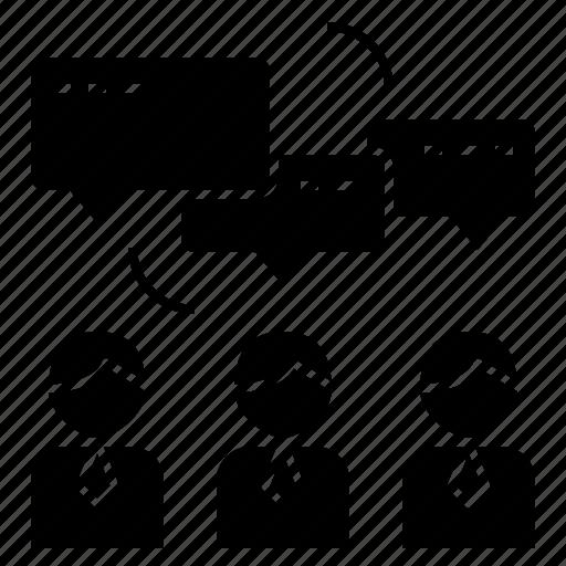 brainstorm, business, discussion, teamwork icon