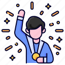 achievement, bukeicon, business, finance, goal, medal, success icon