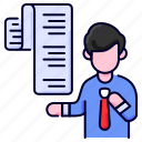 bill, bukeicon, business, contract, invoice, receipt icon