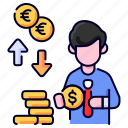 bukeicon, business, currency, dollars, exchange, finance, money icon