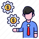 bukeicon, business, finance, gear, management, settings icon