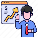 bukeicon, enhancement, finance, money, people, presentation, provit icon