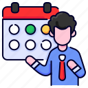 bukeicon, calendar, date, schedule, time, withdrawal icon