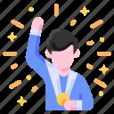 achievement, bukeicon, business, finance, goal, medal, success icon
