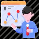 analysis, bukeicon, business, finance, graph, presentation