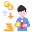 bukeicon, business, currency, dollars, exchange, finance, money
