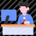 bukeicon, business, computer, finance, office, work, working