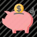 business, finance, piggy bank, savings icon