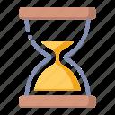 clock, deadline, hourglass, sandglass icon
