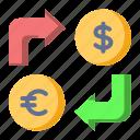 dollar, euro, exchange, money