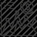analysis, graph, money, up icon