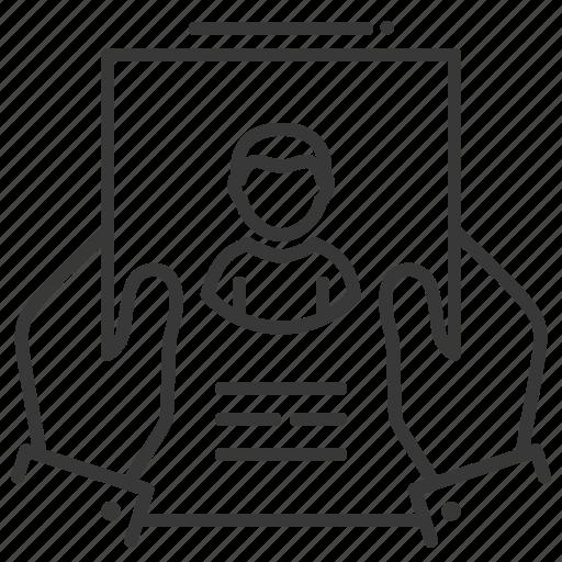 cv, hands, recruitment, resume icon