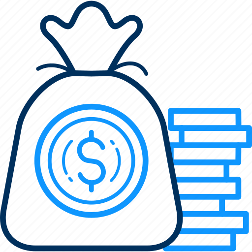 bag, business, cash, coins, currency, dollar, money icon