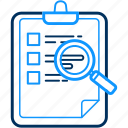 checklist, clipboard, document, list, points icon