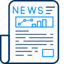 blog, media, news, newsletter, newspaper, paper icon