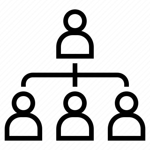 family tree, hierarchy, management, organization, team, team leader icon