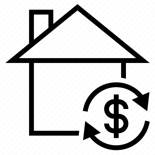 house mortgage, mortgage, mortgage payment, remortgage, resell house icon