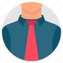 avatar, businessman, face, human, mannequin, tie, user icon