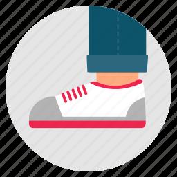 fashion, foot, leg, shoes, trainers icon