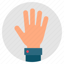 fingers, gesture, greeting, hand, hello, palm icon