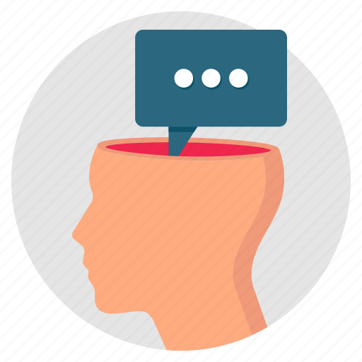 comment, communication, feedback, head, idea, opinion icon