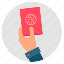 check, identity, inspection, passport, security icon