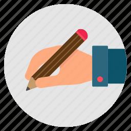 contract, hand, pencil, sign, signature, write icon