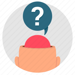 brain, enquiry, help, idea, question, thinking, thought icon