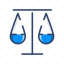 balance, justice, measure, scale, weight icon