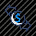 business, cash, dollar, finance, money, office icon