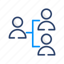 organisation, organization, structure, team, hierarchy icon