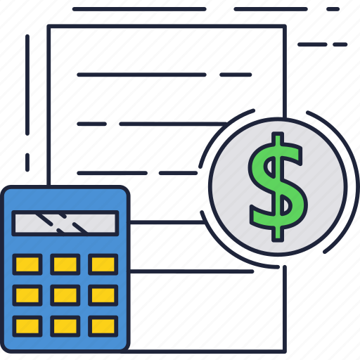 business, calc, contract, document, dollar, money icon