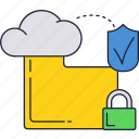 cloud, files, internet, online, secure, storage, upload icon
