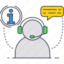 avatar, bot, call, center, chat, message, support icon